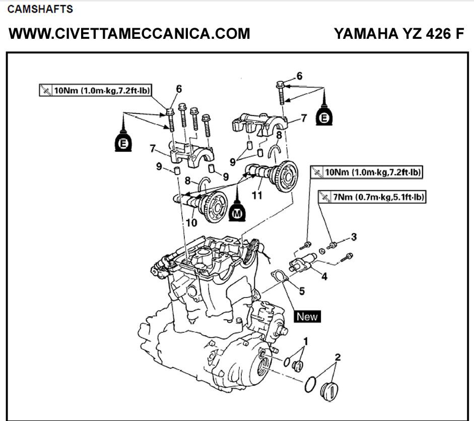 Manual YZ426F Camshaft