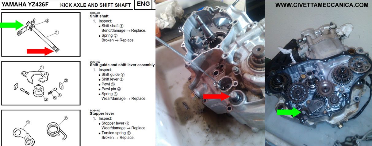Manual YZ426F Shift Shaft Kick Axle 2